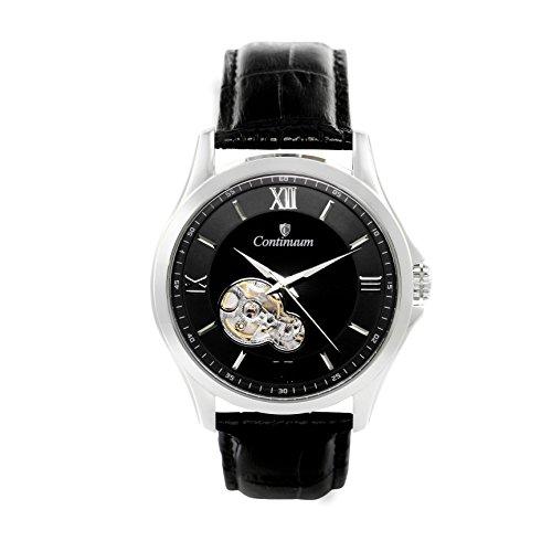 Continuum Herren Armbanduhr Automatik Analog Leder Schwarz C15H22