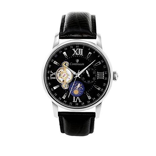 Continuum Herren Armbanduhr Automatik Analog Leder Schwarz C15H12