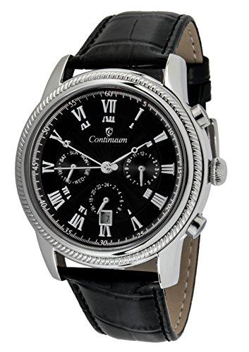 Continuum Herren Armbanduhr Automatik Analog Leder Schwarz CT120110
