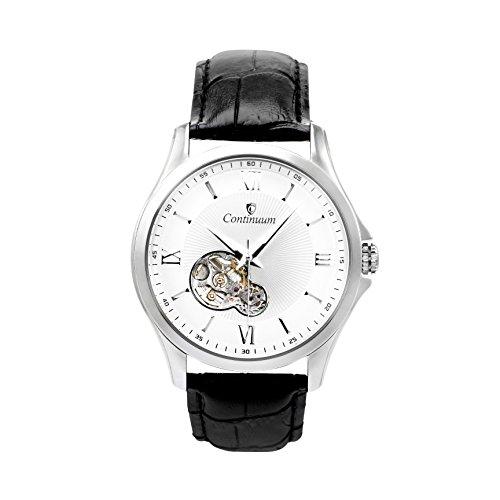 Continuum Herren Armbanduhr Automatik Analog Leder Schwarz C15H21