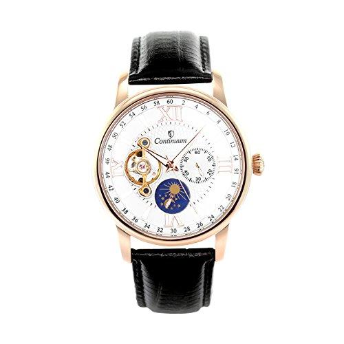Continuum Herren Armbanduhr Automatik Analog Leder Schwarz C15H14