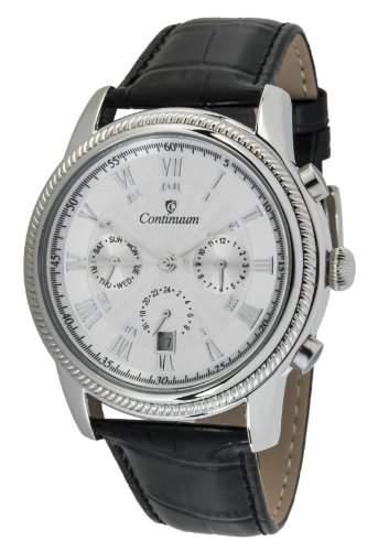 Continuum Herren-Armbanduhr Automatik Analog Leder Schwarz - CT120109