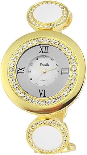 Adrina Damen-Armbanduhr Analog Quarz verschiedene Materialien 100402000004