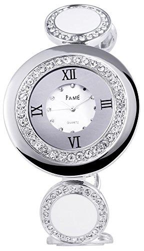 Adrina Damen Armbanduhr Analog Quarz verschiedene Materialien 100421100004