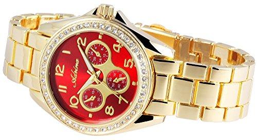 Adrina Damen Armbanduhr Analog Quarz verschiedene Materialien RP4850500002