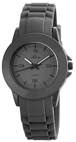 Damenuhr Armbanduhr Quarz Silikonarmband 23cm Dornschliesse Grau RP3592150001