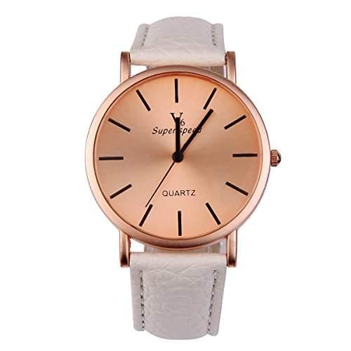 YESURPRISE Uhr Elegante Armbanduhr PU Leder Quarzuhr Damen Herren Uhr Watch Geschenk Watch Gift montre de poche D2