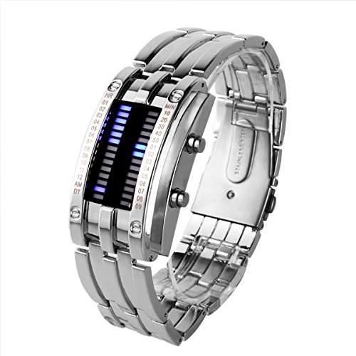 YESURPRISE LAVA LED Herren Armbanduhr Dualsystem Binaer Digital IRON Uhr Xmas Geschenk Watch Gift #6