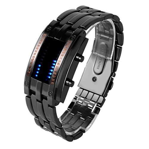YESURPRISE LAVA LED Herren Armbanduhr Dualsystem Binaer Digital IRON Uhr Xmas Geschenk Watch Gift #8