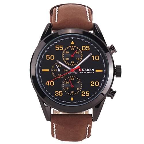 CURREN Mode Herren Sport Leder Uhr Armbanduhr Quarzuhr Sportuhr Herrenuhr