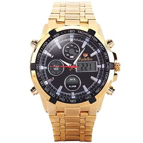 Dual Digital Armbanduhr Herrenuhr Quarzuhr Sportuhr Uhr Watch Geschenk Gift Legierung