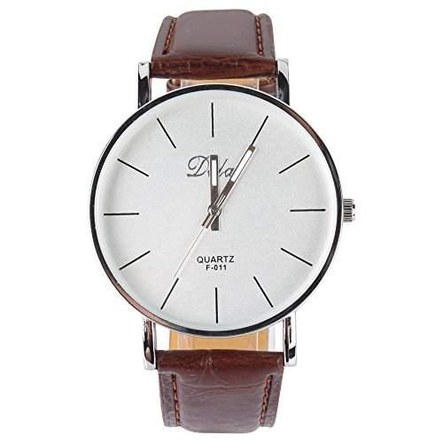 YESURPRISE PU Leder Quarz Damenuhr Kinder Damen Uhr Armbanduhr Geschenk Xmas Gift watch reloj de pulsera montre de F1