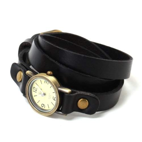YESURPRISE Punk Herren Damenuhr Mode Armbanduhr Quarz Uhr Leder Fashion Watch Geschenk Gift 02