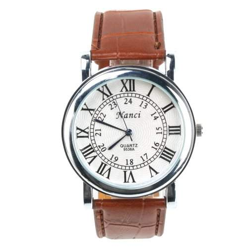YESURPRISE Leder Damen Liebespaar Uhr Armbanduhr Quarzuhr Geschenk Watch Gift 9536A-3