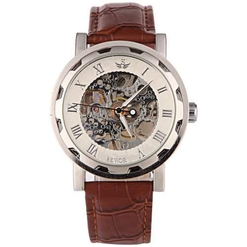 YESURPRISE Uhr Handaufzugswerk Mechanisch Uhr Herren Damen Armbanduhr Skelettuhr Watch Geschenk Gift