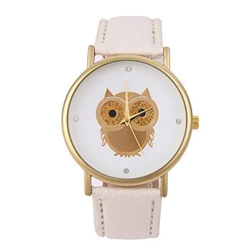 YESURPRISE Damen Uhr PU Kinder Eule Armbanduhr Leder Quarz Uhr Paare Uhr Watch Geschenk Watch Gift montre de poche E1