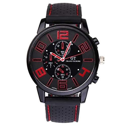 YESURPRISE Herren Uhr Armbanduhr Herren Herrenuhr Silikon Uhr Quarzuhr GT Grand Touring Watch Geschenk Gift #2
