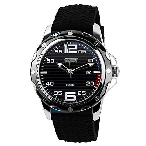 YESURPRISE Uhr Sport wasserdicht Datum Chronograph Armbanduhr Silikon Herrenuhren Quarzwerk Uhr Watch