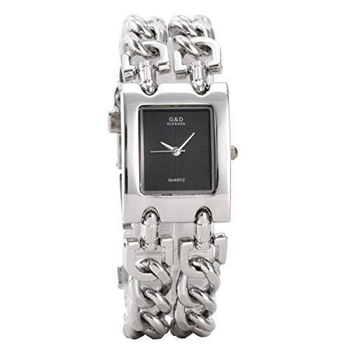 YESURPRISE 044465 Armbanduhr Damen Armband aus Edelstahl Farbe Silber