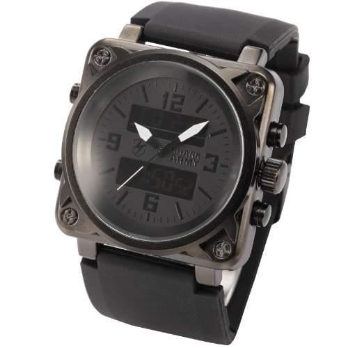 SHARK ARMY Herren Armbanduhr analog-digital Quarzuhr Gummi Armband SAW080