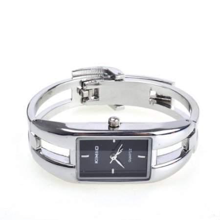 Silber Quarz Frauen Armband Armbanduhr