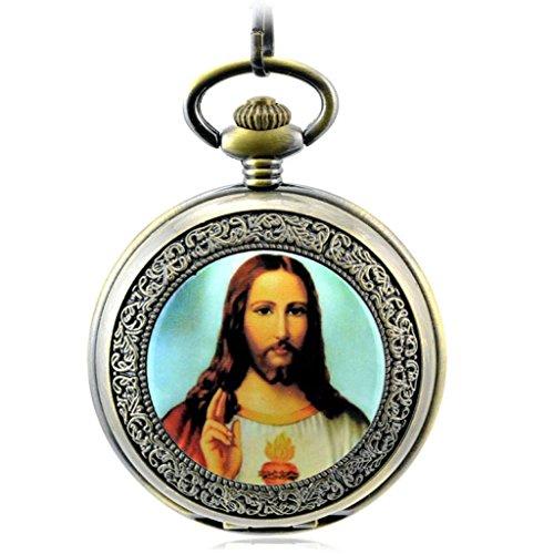 Vintage Christentum Der Jesus Christus Roemische Ziffern Mechanische Taschenuhr