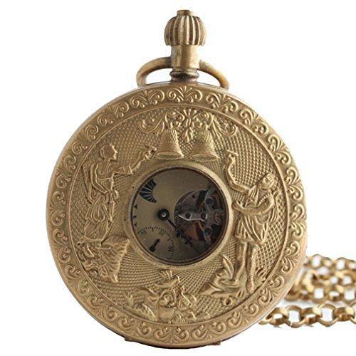 Classic Mechanische Gold Taschenuhr Haelfte Hunter Fall 27 9 cm Kette kommt mit Geschenk Box