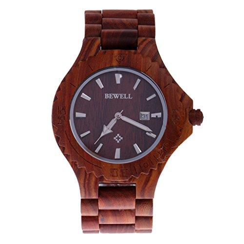 Generic Armbanduhr Quarzuhr Holzuhr Bambusholz Naturholz Armband Watch Handwatch