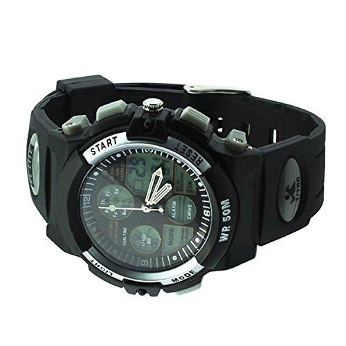 Generic Armbanduhr SPORT WR50M DUAL BLACK