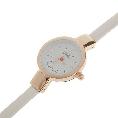 Generic Frauen Weihnachten Weihnachtsgeschenke Legierung PU Leder Guertel Armbanduhr