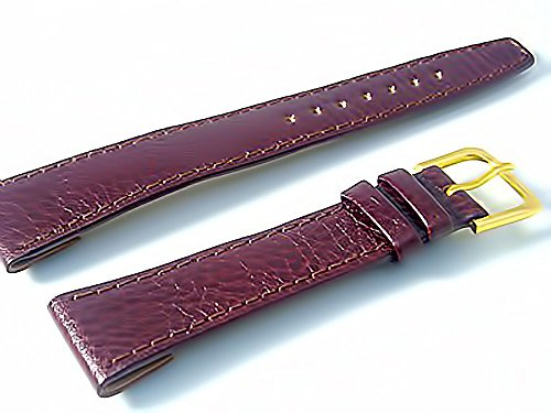 Herren Offene Enden Leder Uhrenarmband Band fuer Vintage Uhren braun 18 mm breit G