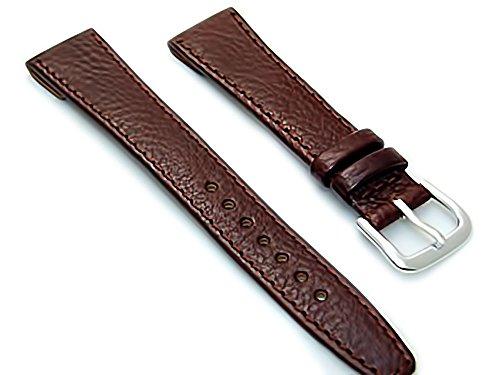 Herren Offene Enden Leder Uhrenarmband Band fuer Vintage Uhren 20 mm breit dunkelbraun S