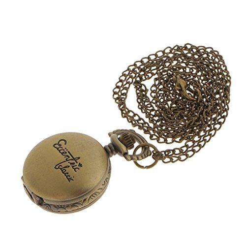 Klassischen Retro Taschenuhr Bronze Halskette Kette Steampunk
