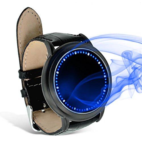 LED Armbanduhr in Blau mit Touchscreen inspiriert vom japanischen Abyss Stil schwarz