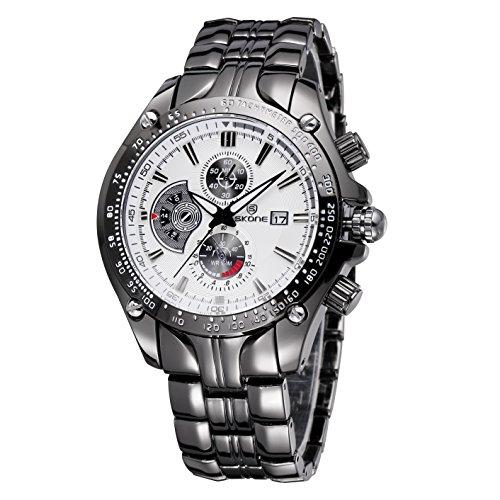 Luxus Marke Datum Sehen Maenner Helle Mode Auf Quarz Business Casual Voller Stahl Armbanduhr