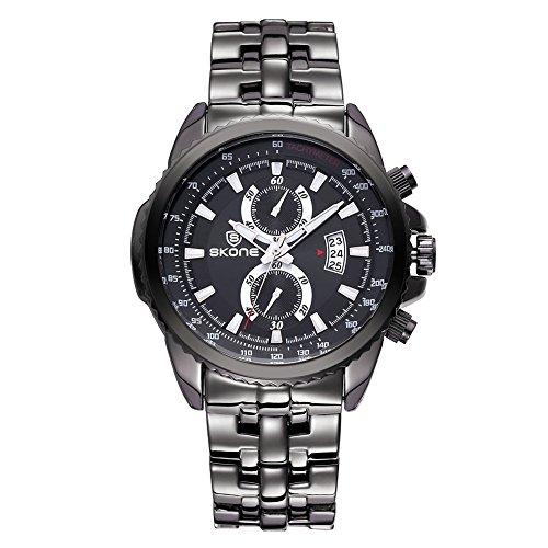 Maenner Luxury Brand Sport Relojes Reloj Hombre Relogio Masculino Quarz Montre Homme Military Watch Schwarz