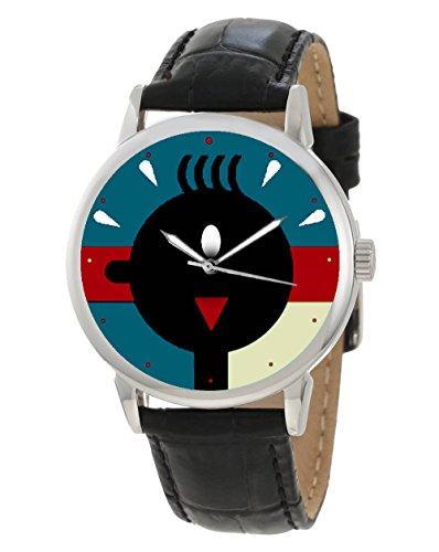 Vintage Werbeposter Tim und Struppi modernistischer belgischen Mondrian Art Collectible Armbanduhr