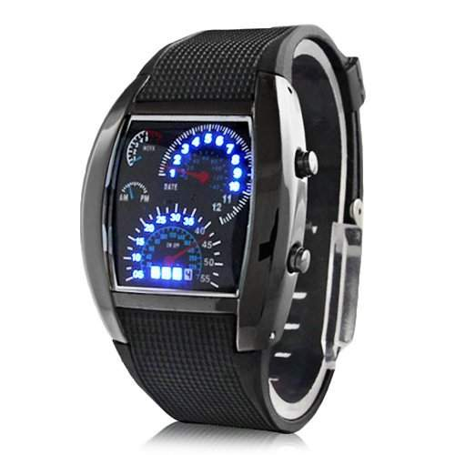 AMPM24 LED Herrenuhr Damenuhr Armbanduhr Digital Sport Uhr LED037