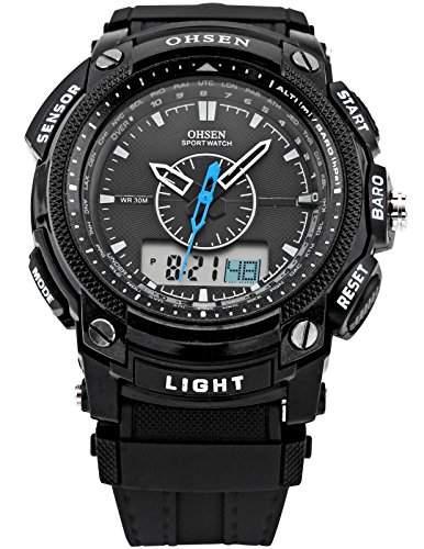 OHSEN LED Digital Sport Datum Herrenuhr Armbanduhr Sportuhr Quarzuhr Uhr OHS049