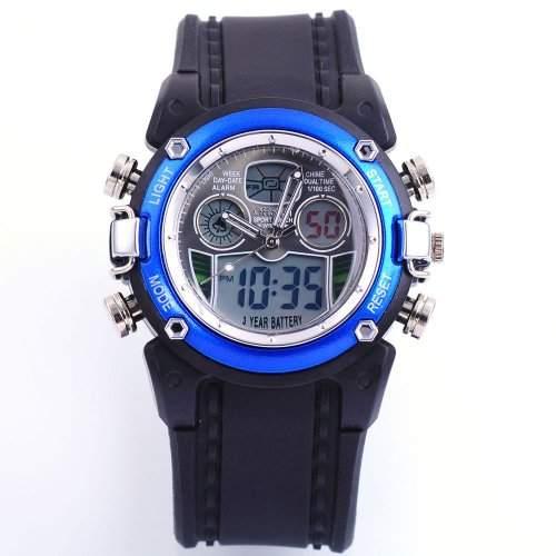 OHSEN LED Digital Sport Datum Herrenuhr Armbanduhr Sportuhr Quarzuhr Uhr OHS017