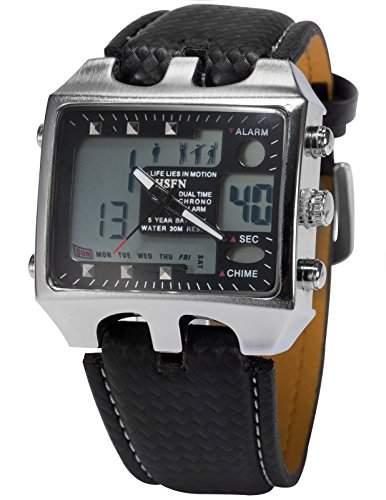 OHSEN LED Digital Sport Datum Herrenuhr Armbanduhr Sportuhr Quarzuhr Uhr OHS033
