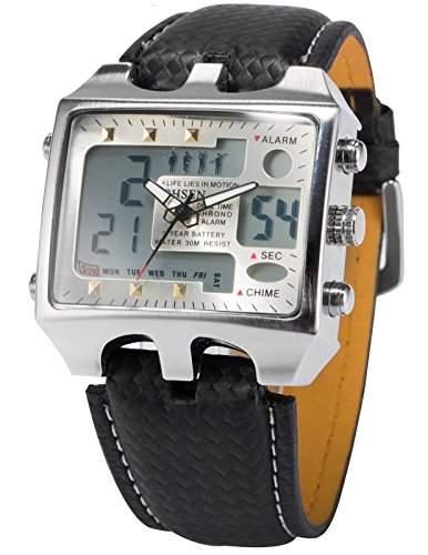 OHSEN LED Digital Sport Datum Herrenuhr Armbanduhr Sportuhr Quarzuhr Uhr OHS034