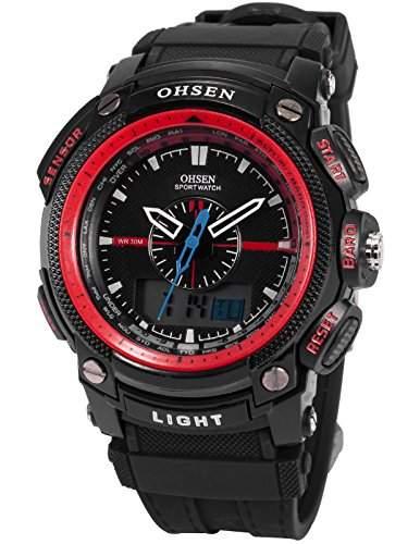 OHSEN LED Digital Sport Datum Herrenuhr Armbanduhr Sportuhr Quarzuhr Uhr OHS051