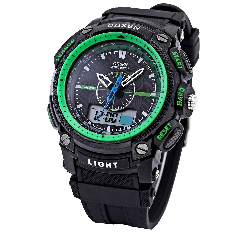 OHSEN LED Digital Sport Datum Herrenuhr Armbanduhr Sportuhr Quarzuhr Uhr OHS053