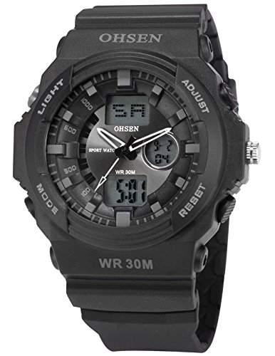 OHSEN LED Digital Sport Datum Herrenuhr Armbanduhr Sportuhr Quarzuhr Uhr OHS093