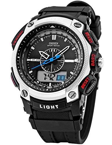 OHSEN LED Digital Sport Datum Herrenuhr Armbanduhr Sportuhr Quarzuhr Uhr OHS050