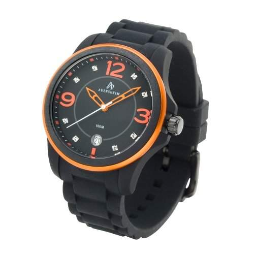 Auersheim Damen-Armbanduhr Belynia Orange Zirkoniasteine