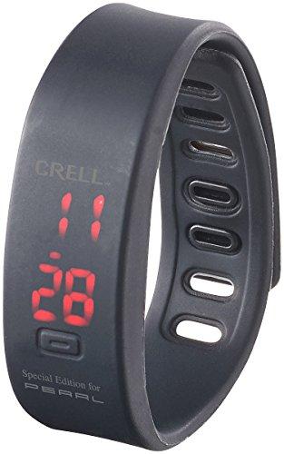 Crell Digitale Sport Uhr mit LED Display und Silikon Armband