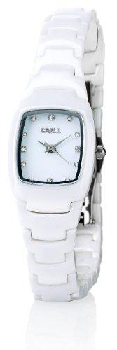 Crell nc7315 944 Armbanduhr Damen Armband aus Keramik Farbe Weiss