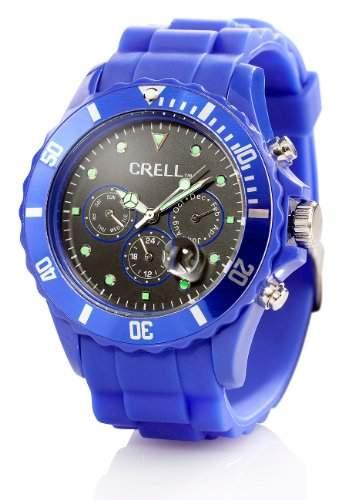 Crell Multifunktions-Uhr mit Silikon-Armband, Ultramarin